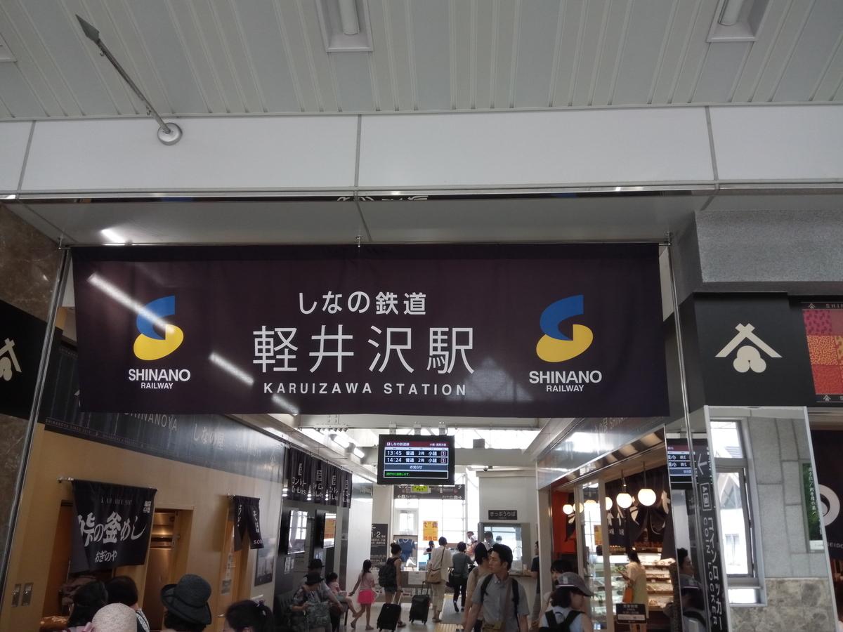 しなの鉄道の軽井沢駅