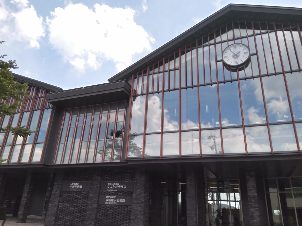 しなの鉄道の中軽井沢の駅