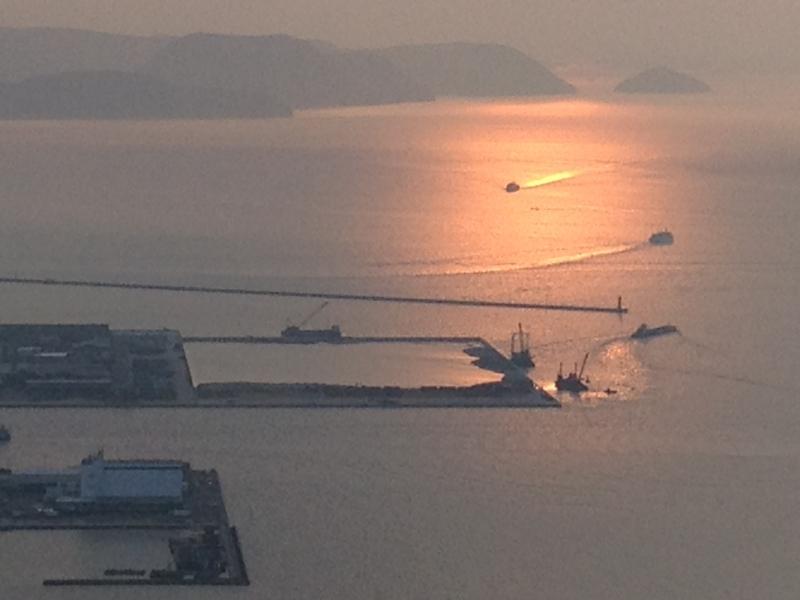 瀬戸内海の夕陽