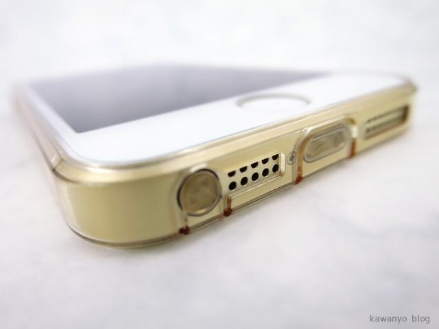 ESR iPhone SE TPU シリコンクリアケース ゴールド