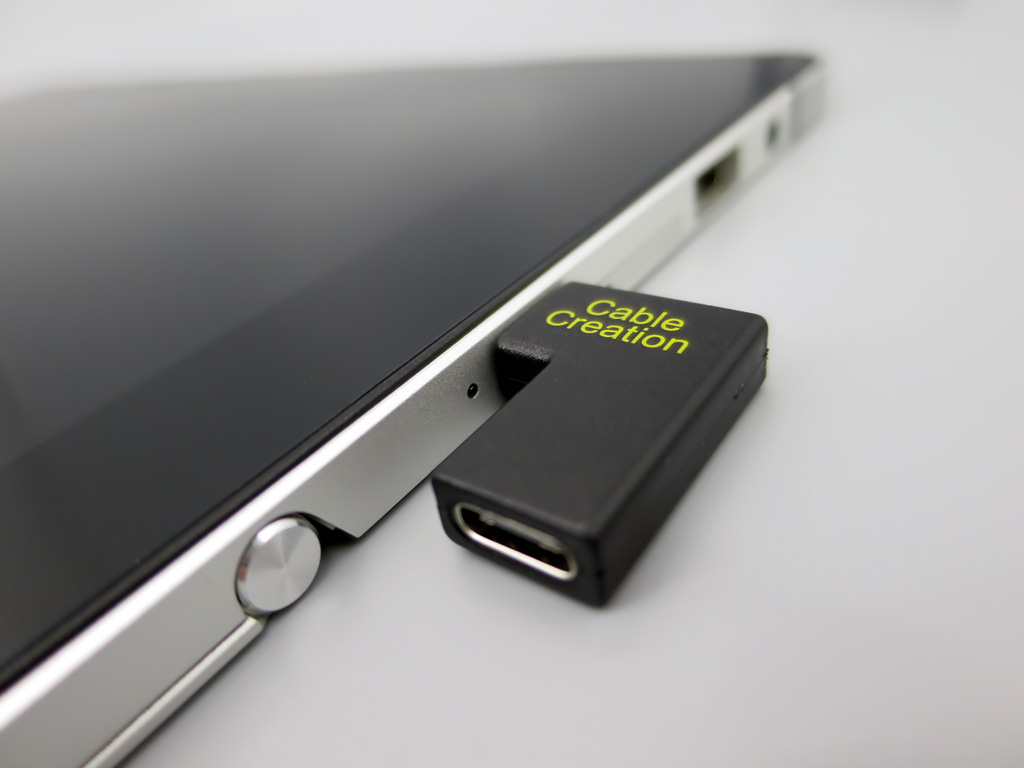 USB-C L字アダプタ