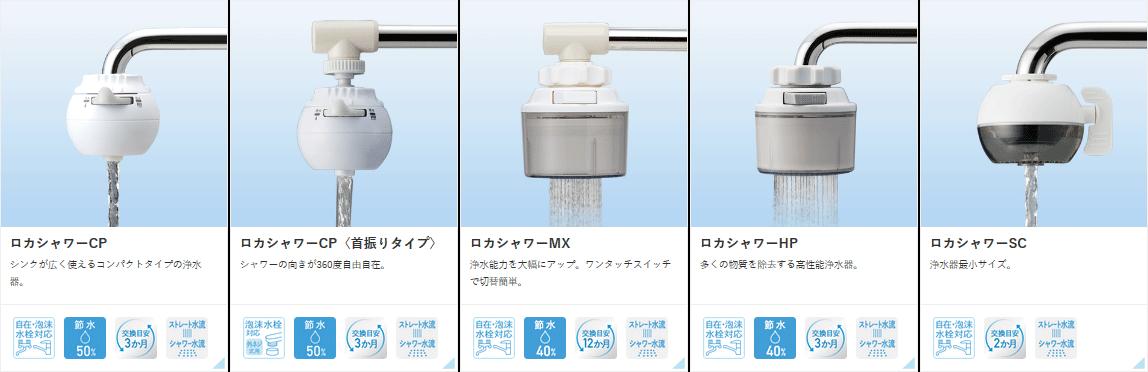 節水浄水蛇口 ロカシャワー