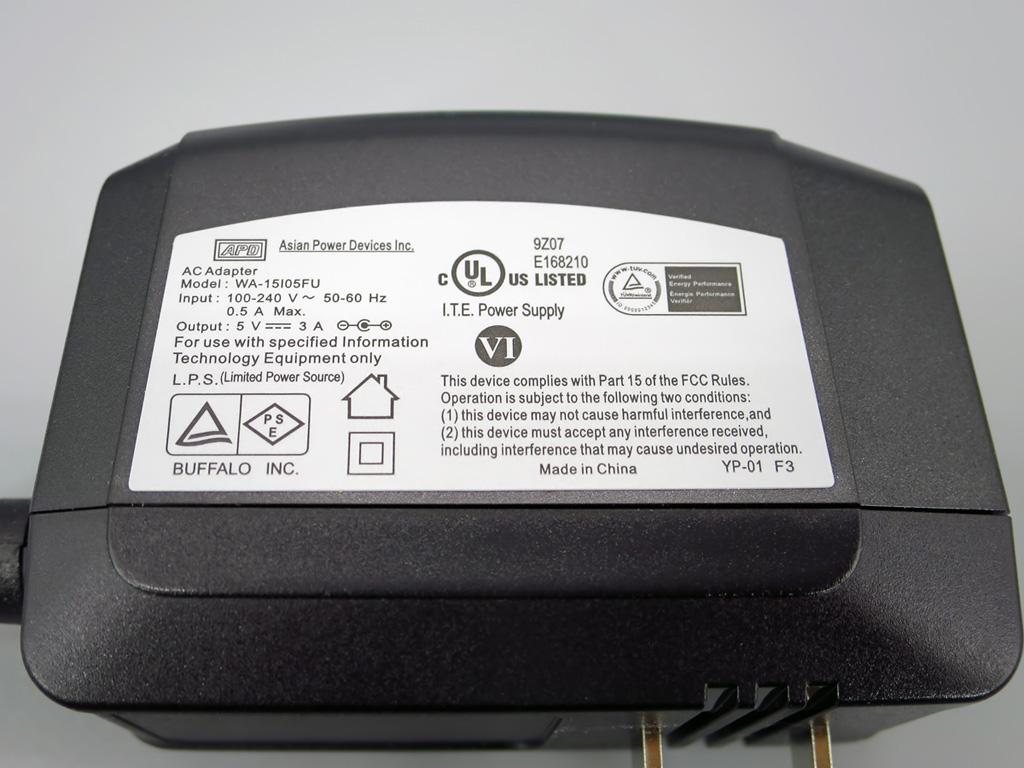 BUFFALO 大容量ACアダプター付 USB3.0 4ポートハブ BSH4A125U3BK