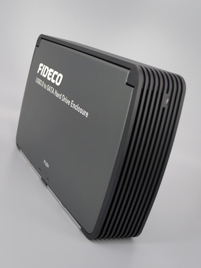 FIDECO 3.5インチ 冷却ファン付き USB3.0 外付HDDケース