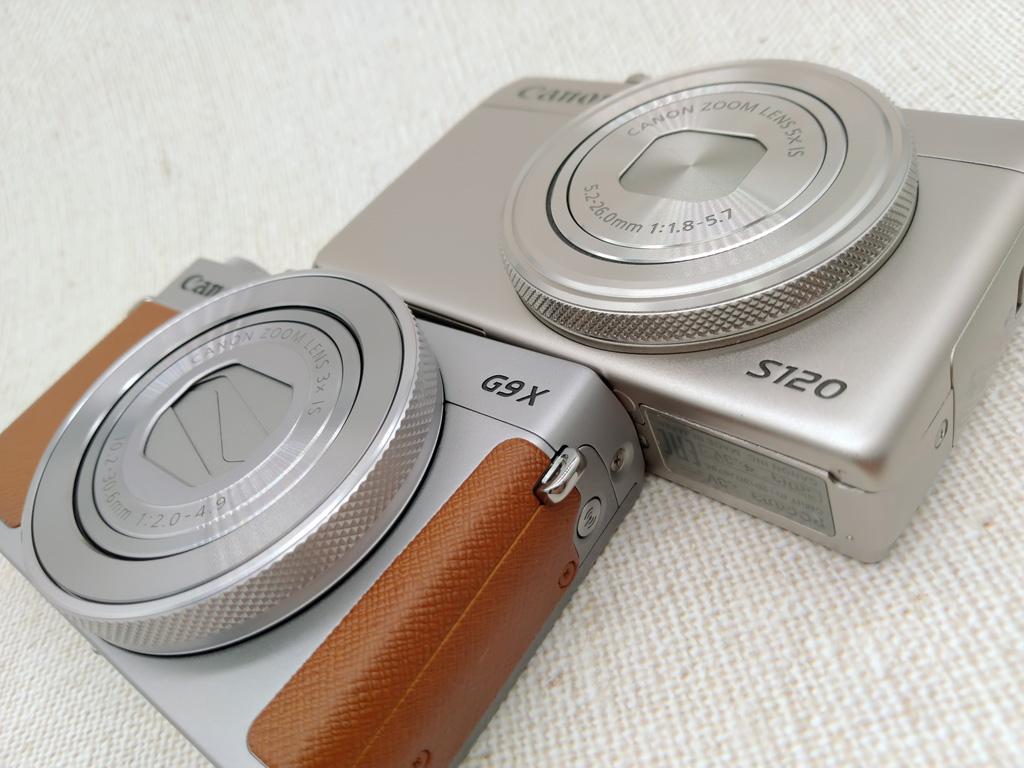 PowerShot G9-X Mark-II/S120 比較