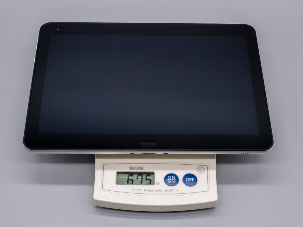 クリエイター向けWindowsタブレット「raytrektab」DG-D10IWP 本体重量