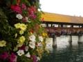 ①ドイツからのスイス(①)。ルツェルンのカペル橋。ほんとうにかわい