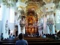 ②ドイツ。世界遺産のヴィース教会内部