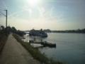 ②ドイツ。朝のライン川 リューデスハイム