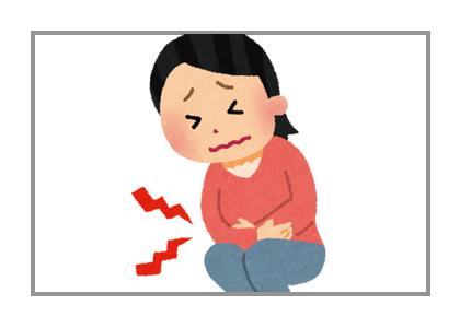 胃が痛い女性の絵