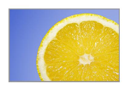 レモンの輪切り画像