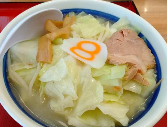8番ラーメン小さな野菜ラーメン塩野菜増し