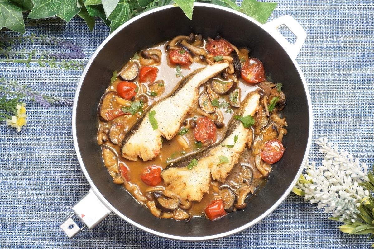 タラときのこの和風アクアパッツァの作り方・レシピ