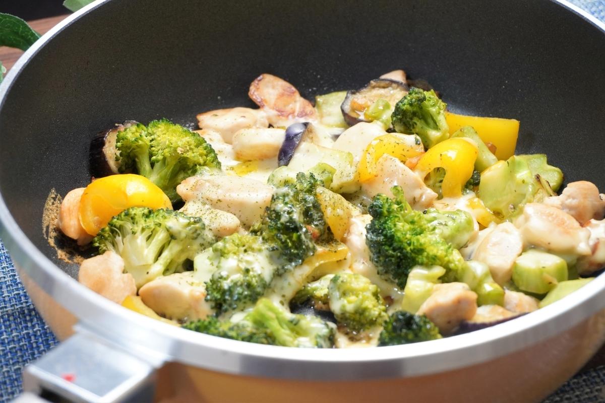 鶏ささみと野菜のとろとろチーズ焼きの作り方・レシピ