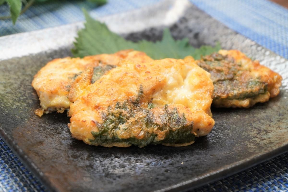 鶏ささみの和風大葉ピカタの作り方・レシピ