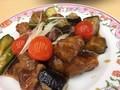 夏野菜の黒酢すぶた