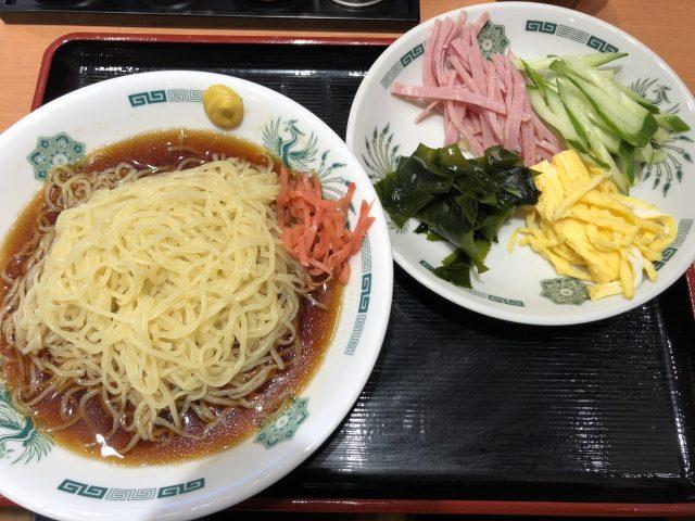 日高屋「黒酢しょうゆ冷し麺」