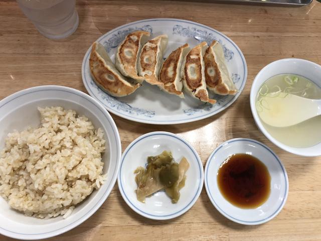 ぎょうざの満洲 焼餃子とライスのセット