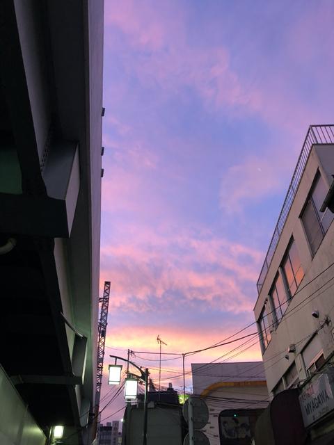 2018年7月8日の朝焼けの空2