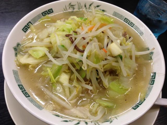 日高屋「野菜たっぷりタンメン」