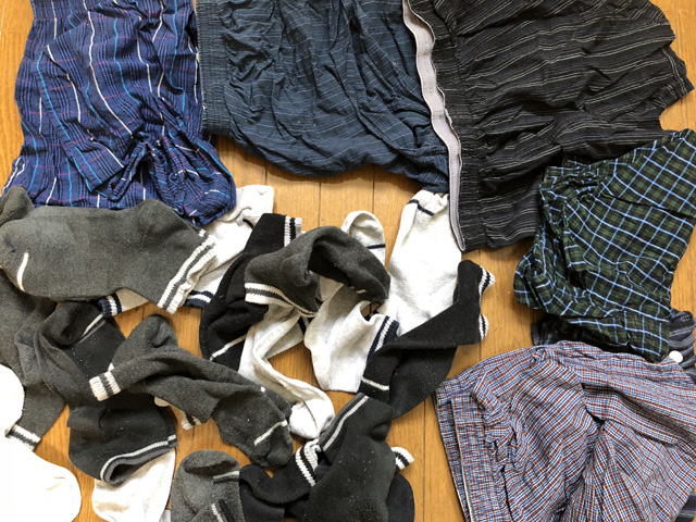 衣類(靴下と下着)の断捨離