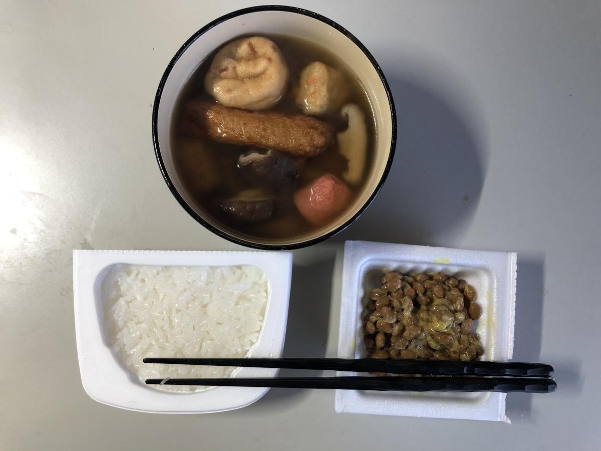 貧乏生活のディナー