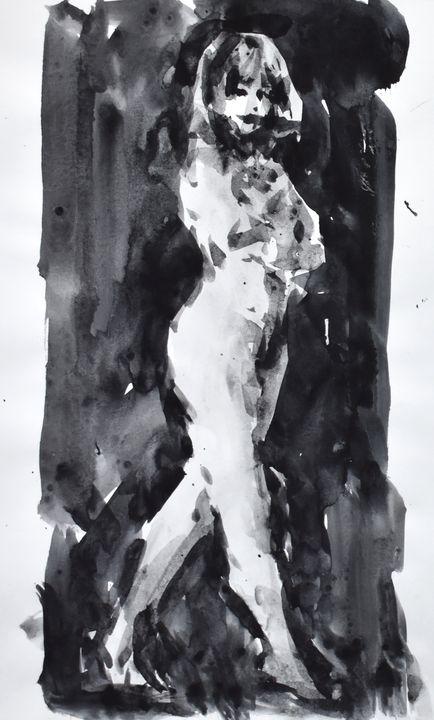 ペタペタと陰影を置いて裸婦をモデリング