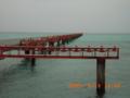 下地島・民間離発着訓練飛行場のサンゴ礁の誘導標識