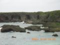 下地島・曇天の「中の島ビーチ」