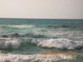 宮古島・北風の砂山ビーチにて