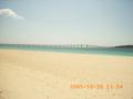 宮古島・前浜ビーチから来間大橋を望む
