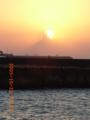 宮古島・平良港の夕焼け