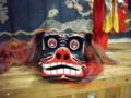 多良間島・八月踊りで使われた獅子「多良間民俗芸能資料館」