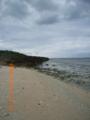久高島の東海岸にて