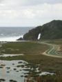 久米島・具志川城跡からミーフガー方面を望む