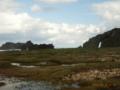 久米島・大和泊海岸からミーフガーを望む