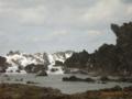 久米島・ミーフガー近場の荒れる冬景色