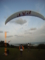久米島・フサキナ山のパラグライダー