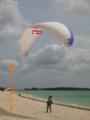 久米島・イーフビーチのパラグライダー