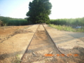 ケイビン鉄道のレール跡