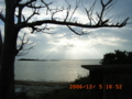 初冬の久松海岸夕日