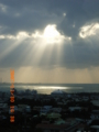 北谷の夕日