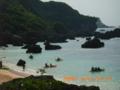 宮古島・保良泉ビーチにて