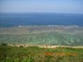 宮古島東海岸、4月の珊瑚礁の海