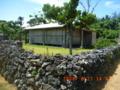 新城島の民家跡と珊瑚の石垣