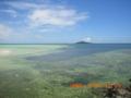 池間大橋下から大神島を望む