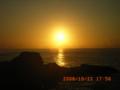 徳之島の夕日
