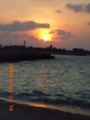 与論島北海岸の夕日
