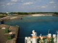 与論島の港から