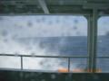 粟国島への航路で突然波飛沫